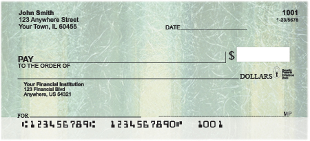 Recycle In Green Personal Checks