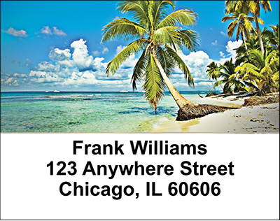 Beach Scenes Address Labels