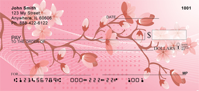 Oriental Sakura Blooms Personal Checks