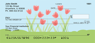 Flower Garden Personal Checks