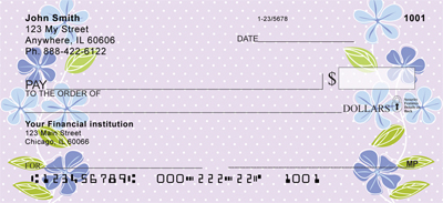 Open Blossoms Personal Checks