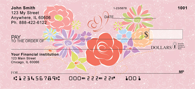 Floral Flair Personal Checks