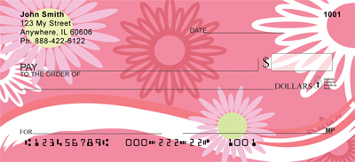 Sweeping Daisies Personal Checks