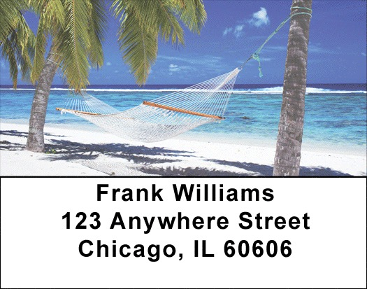 Escape to Paradise Beach Address Labels