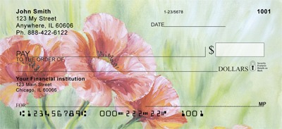 Poppy Oil Painting Personal Checks