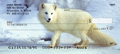 Fox In Winter Personal Checks