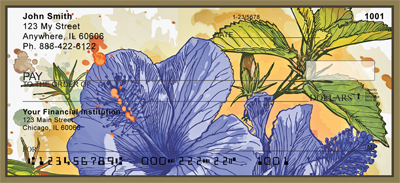 Hibiscus - Colorful Watercolor Personal Checks