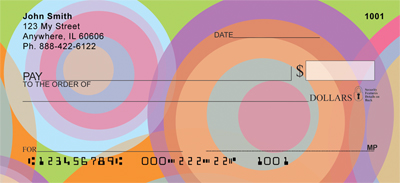 Disco Circles Personal Checks