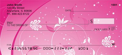 Hot Pink Nights Personal Checks