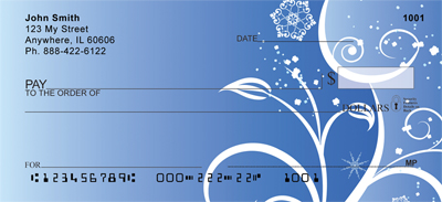 Icy Blue Personal Checks