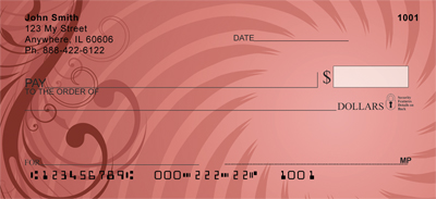 Colorful Illusions Personal Checks