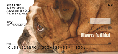 Bulldogs With Marine Attitude Personal Checks
