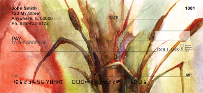 Cattail Watercolors Personal Checks