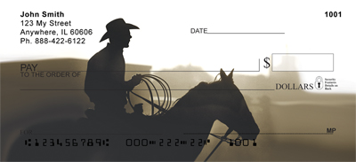 Dusty Cowboys Personal Checks