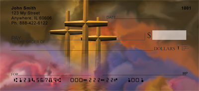 Crosses - Golden Crosses Personal Checks