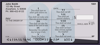 Ten Commandments Christian Checks