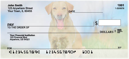 Majestic Yellow Lab Personal Checks