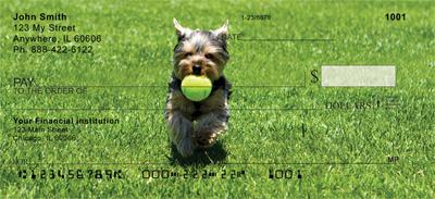 Yorkies at Play Personal Checks