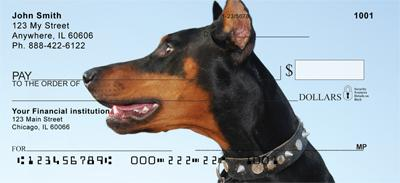 Dobermans Smile Personal Checks