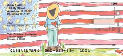 Patriotic Personal Checks by Amy S. Petrik