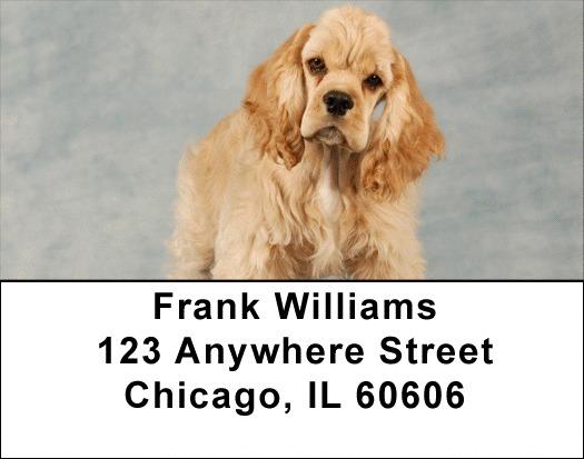 Cuddly Cocker Puppies Address Labels
