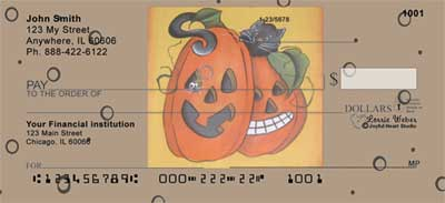 Pumpkin Hide and Seek Personal Checks by Lorrie Weber