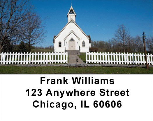 Country Churches Address Labels