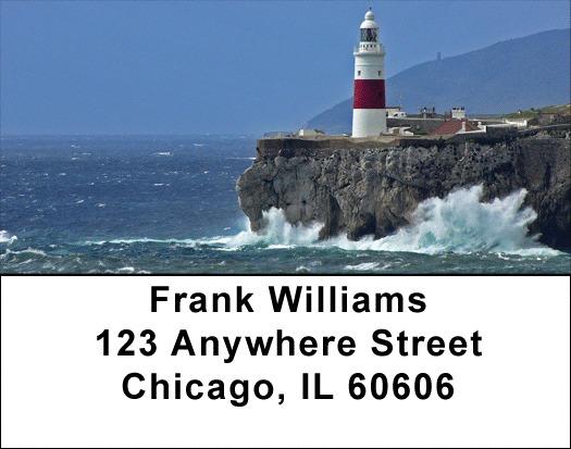 Lighthouses Rocky Coastlines Address Labels