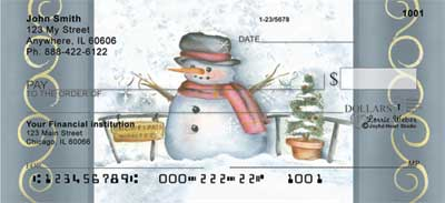 Snowflake Collector Checks by Lorrie Weber