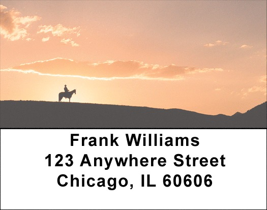 Sunset Horses Address Labels