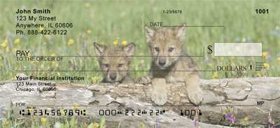 Mischievous Wolves Personal Checks