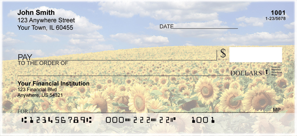Joyous Sunflowers Personal Checks