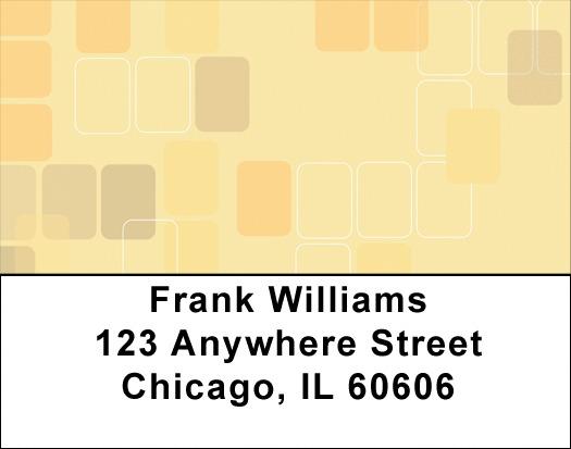 Retro Square Address Labels