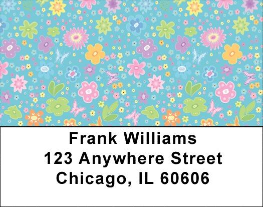Spring Flowers Address Labels
