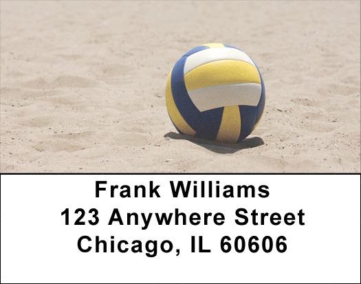 Beach Volleyball Address Labels
