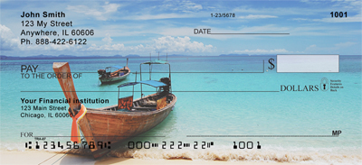 Scenic Tropical Boats Personal Checks