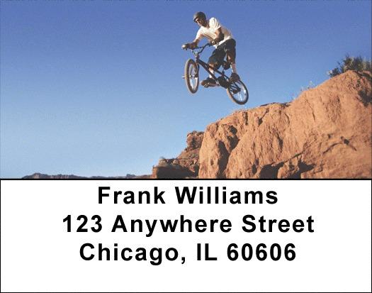 Mountain Bike Address Labels