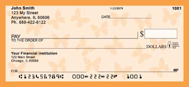 Butterflies Personal Checks