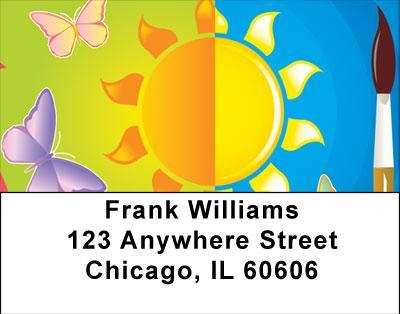 Summer Fun Address Labels