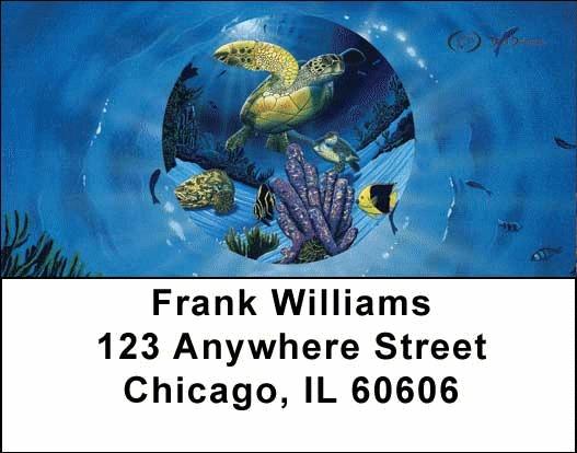Turtles Address Labels by David Dunleavy