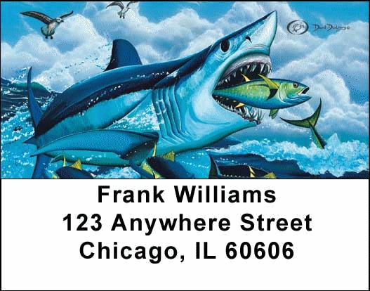 Fishermen's Address Labels by David Dunleavy