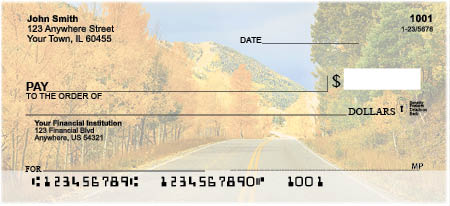 Autumn Roads Personal Checks
