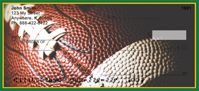Green & Gold Football Team Personal Checks