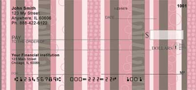 Modern Stripes Personal Checks