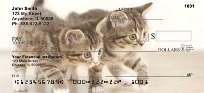Cute Kittens Top Tear Personal Checks