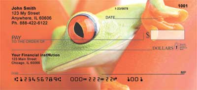 Frogs Top Tear Personal Checks