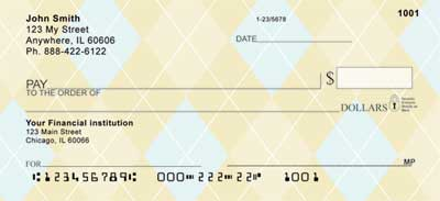 Argyle New Personal Checks