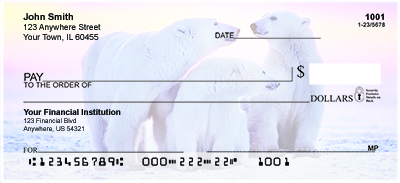Polar Bears Personal Checks