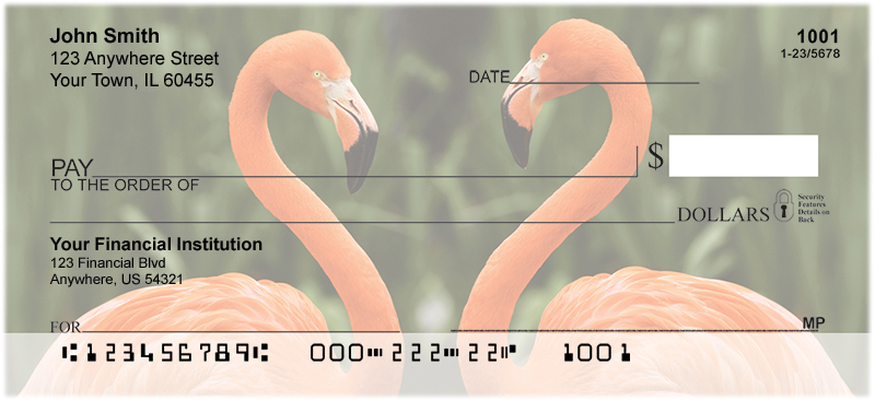 Flamingos Personal Checks