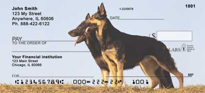 German Shepherds Personal Checks